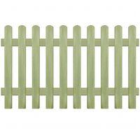 vidaXL Ograda od kolaca od impregnirane borovine 170 x 100 cm 6/9 cm