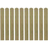 VidaXL Impregnirane letvice za ogradu 10 kom drvene 80 cm