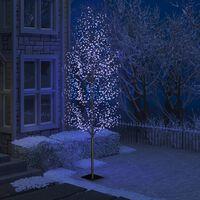 vidaXL Božićno drvce s 1200 LED žarulja plavo svjetlo 400 cm