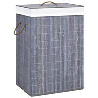 vidaXL Košara za rublje od bambusa siva 72 L