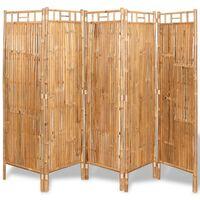 vidaXL Sobna Pregrada/Panel Ograda od Bambusa s 5 Panela 200x160 cm