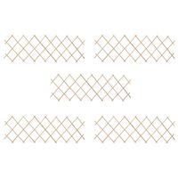 vidaXL Rešetkaste ograde 5 kom od jelovine 180 x 60 cm