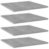 vidaXL Police za knjige 4 kom siva boja betona 40x40x1,5 cm od iverice