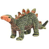 vidaXL Stojeća plišana igračka stegosaur zeleno-narančasti XXL