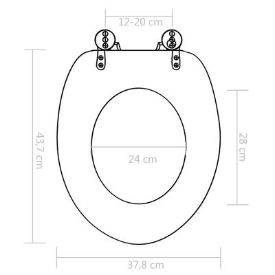 vidaXL Toaletna daska s mekim zatvaranjem MDF s uzorkom školjki