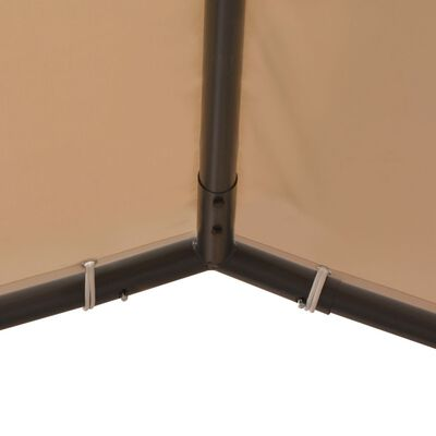 vidaXL Sjenica/paviljon/šator/nadstrešnica 4 x 4 m čelični bež