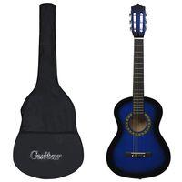 """vidaXL 8-dijelni set klasične gitare za početnike plavi 1/2 34"""""""