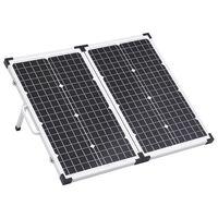 vidaXL Sklopivo postolje sa solarnim panelima 60 W 12 V