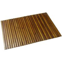 Kupaonski otirač od bagremovog drveta 80 x 50 cm