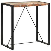 vidaXL Barski stol od masivnog obnovljenog drva 110 x 60 x 110 cm