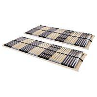vidaXL Podnice za krevet 2 kom s 42 letvice i 7 zona 90 x 200 cm