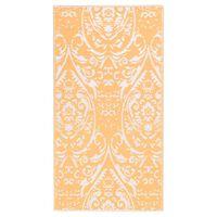 vidaXL Vanjski tepih narančasto-bijeli 80 x 150 cm PP