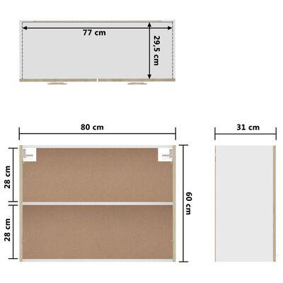 vidaXL Viseći ormarić boja hrasta sonome 80 x 31 x 60 cm od iverice
