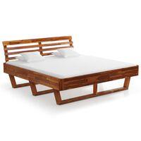 vidaXL Okvir za krevet od masivnog bagremovog drva 180 x 200 cm