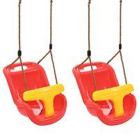 vidaXL Ljuljačke za bebe sa sigurnosnim pojasom 2 kom PP crvene