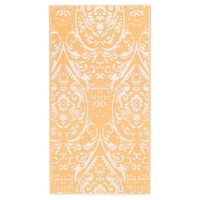 vidaXL Vanjski tepih narančasto-bijeli 190 x 290 cm PP