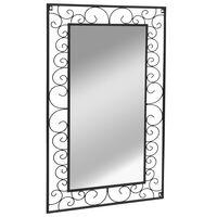 vidaXL Vrtno zidno ogledalo pravokutno 60 x 110 cm crno