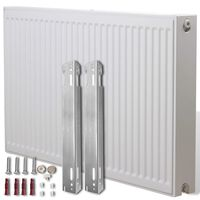 White Compact Convector Radiator Side Connectors 120 x 10 x 60 cm