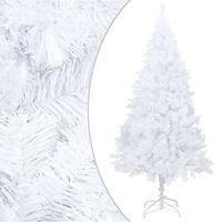 vidaXL Umjetno božićno drvce s gustim granama bijelo 210 cm PVC