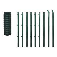 vidaXL Euro ograda 10 x 1,5 m čelična zelena