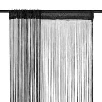 vidaXL Končane Zavjese 2 kom 140x250 cm Crne
