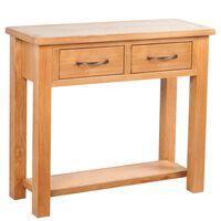 vidaXL Konzolni stol s 2 ladice 83 x 30 x 73 cm masivna hrastovina