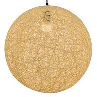 vidaXL Viseća svjetiljka krem kuglasta 45 cm E27