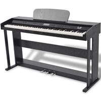 vidaXL Digitalni klavir s pedalama crnom melaminskom pločom i 88 tipki