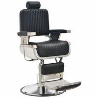 vidaXL Brijačka stolica od umjetne kože crna 68 x 69 x 116 cm