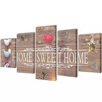 Zidne slike na platnu - Home sweet home 100 x 50 cm