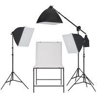 vidaXL Oprema za Foto Studio sa Softbox Rasvjetom i Stolom za Snimanje