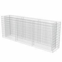 vidaXL Gabionska sadilica od pocinčanog čelika 270 x 50 x 100 cm