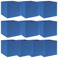 vidaXL Kutije za pohranu 10 kom plave 32 x 32 x 32 cm od tkanine