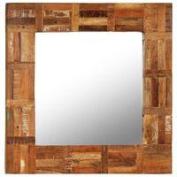 vidaXL Zidno ogledalo od masivnog obnovljenog drva 60 x 60 cm