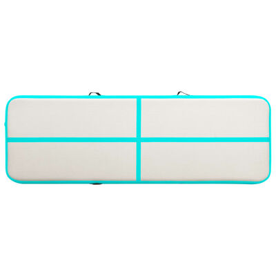 vidaXL Strunjača na napuhavanje s crpkom 300 x 100 x 20 cm PVC zelena
