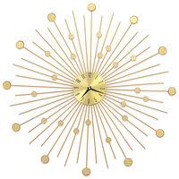 vidaXL Zidni sat metalni 70 cm zlatni