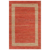 vidaXL Ručno rađeni tepih od jute crveni 120 x 180 cm