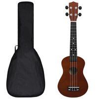 """vidaXL Set dječjeg ukulelea Soprano s torbom boja tamnog drva 23 """""""