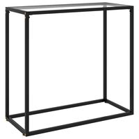 vidaXL Konzolni stol prozirni 80 x 35 x 75 cm od kaljenog stakla