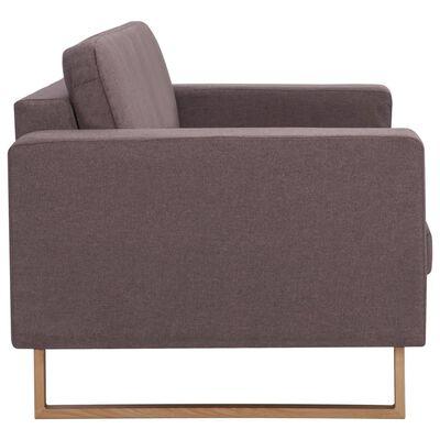 vidaXL 2-dijelni set sofa od tkanine bež