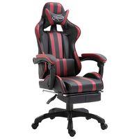 vidaXL Igraća stolica od umjetne kože s osloncem za noge boja vina