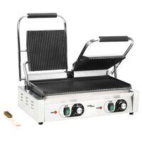 vidaXL Dvojni sendvič grill 3600 W 58 x 41 x 19 cm