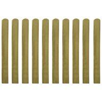 VidaXL Impregnirane letvice za ogradu 10 kom drvene 100 cm