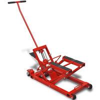 Crvena hidraulična dizalica za motocikl/četverokotač do 680 kg