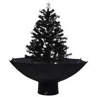 vidaXL Božićno drvce koje sniježi sa stalkom crno 75 cm PVC