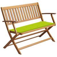 vidaXL Garden Bench with Cushion 120 cm Solid Acacia Wood (44132+314082)