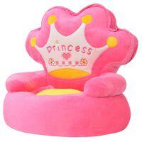 vidaXL Plišana Dječja Fotelja za Princeze Ružičasta