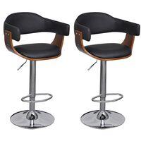 vidaXL Barski stolci od umjetne kože 2 kom