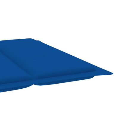 vidaXL Jastuk za ležaljku za sunčanje kraljevski plavi 186 x 58 x 4 cm