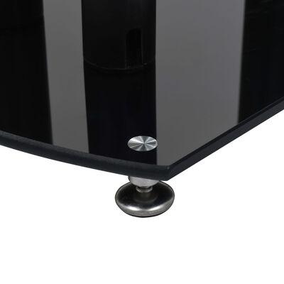 vidaXL Aluminijski stalci za zvučnike 2 kom crni sigurnosno staklo